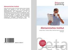Portada del libro de Alemannisches Institut