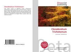 Portada del libro de Clerodendrum Trichotomum