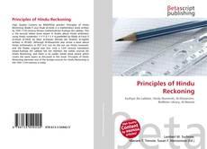 Bookcover of Principles of Hindu Reckoning