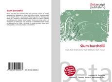 Bookcover of Sium burchellii