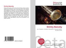 Bookcover of Dmitry Baevsky