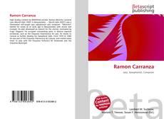 Couverture de Ramon Carranza