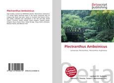 Portada del libro de Plectranthus Amboinicus