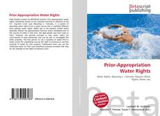 Bookcover of Prior-Appropriation Water Rights