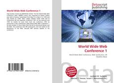 Обложка World Wide Web Conference 1