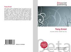 Buchcover von Tony Ernst