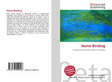 Bookcover of Name Binding