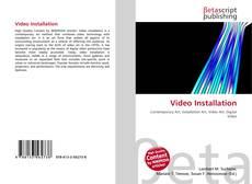 Capa do livro de Video Installation