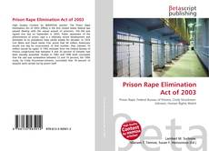 Prison Rape Elimination Act of 2003 kitap kapağı