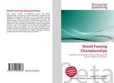 Bookcover of World Fencing Championships