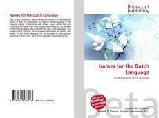 Portada del libro de Names for the Dutch Language