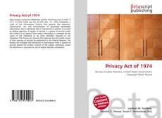 Couverture de Privacy Act of 1974