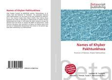 Capa do livro de Names of Khyber Pakhtunkhwa