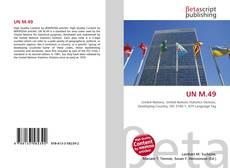 Capa do livro de UN M.49
