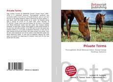Buchcover von Private Terms