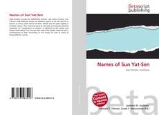Обложка Names of Sun Yat-Sen