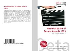 Bookcover of National Board of Review Awards 1929