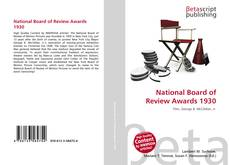 Bookcover of National Board of Review Awards 1930
