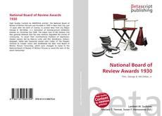 National Board of Review Awards 1930 kitap kapağı