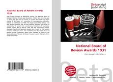 Bookcover of National Board of Review Awards 1931
