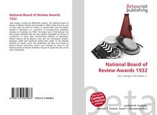Bookcover of National Board of Review Awards 1932