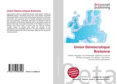 Union Démocratique Bretonne kitap kapağı