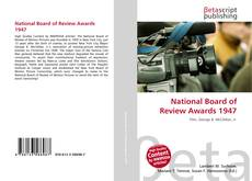 Bookcover of National Board of Review Awards 1947