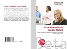 Capa do livro de Private Foundation (United States)