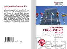 Bookcover of United Nations Integrated Office in Burundi
