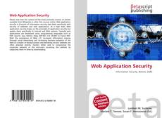 Copertina di Web Application Security