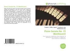 Buchcover von Piano Sonata No. 23 (Beethoven)