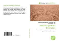Bookcover of Analytic–synthetic Distinction