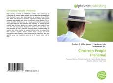 Portada del libro de Cimarron People (Panama)