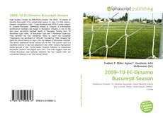 Bookcover of 2009–10 FC Dinamo Bucureşti Season
