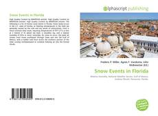 Bookcover of Snow Events in Florida