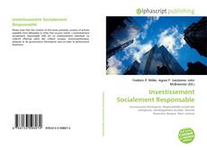 Bookcover of Investissement Socialement Responsable