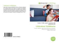 Обложка Littérature Valdôtaine