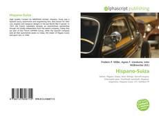 Portada del libro de Hispano-Suiza