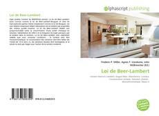 Couverture de Loi de Beer-Lambert