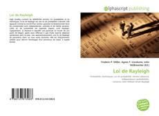 Обложка Loi de Rayleigh