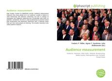 Bookcover of Audience measurement