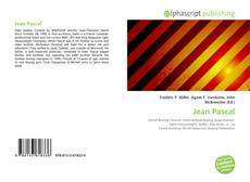 Portada del libro de Jean Pascal