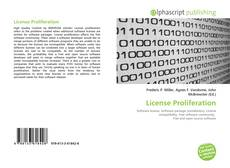 Bookcover of License Proliferation