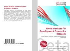 Buchcover von World Institute for Development Economics Research