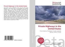 Copertina di Private Highways in the United States