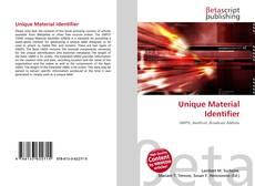 Capa do livro de Unique Material Identifier
