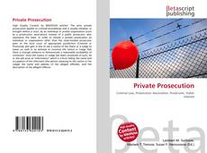 Bookcover of Private Prosecution