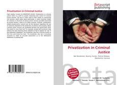 Portada del libro de Privatization in Criminal Justice