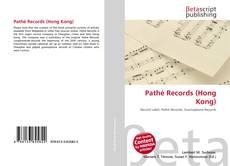 Capa do livro de Pathé Records (Hong Kong)