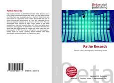 Capa do livro de Pathé Records